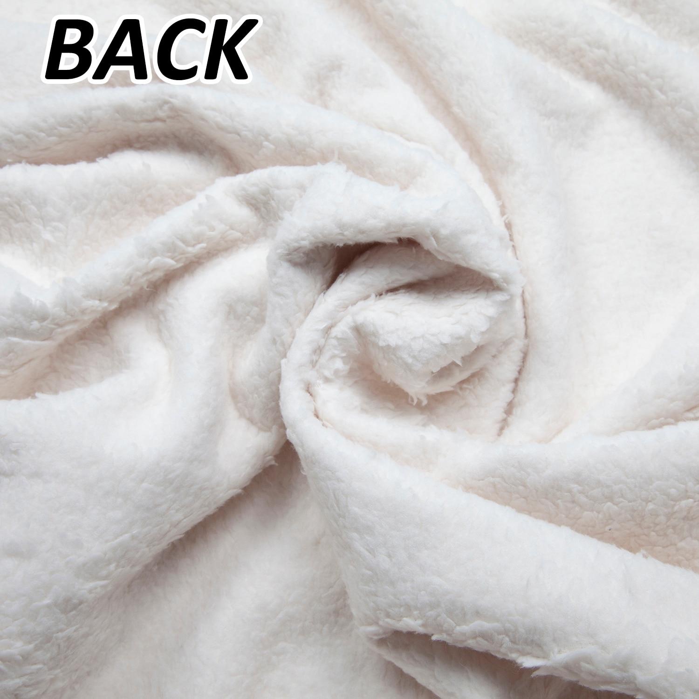 Personalise Cheeky Monkey Polar Fleece Satin//Trim Baby Blanket