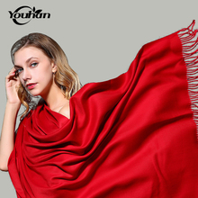 YOUHAN 2017 New Fashion Imitation Cashmere Women Scarf Autumn Winter Female Ladies Scarves Travel Pashmina Shawl(China)