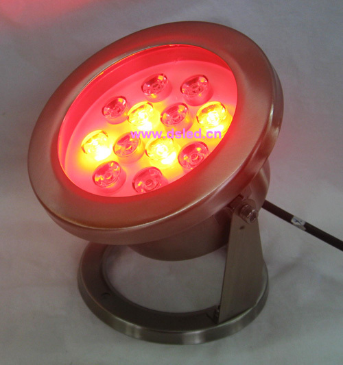 IP68,high power 12W RGB LED pool light, RGB underwater LED light,12V DC,DS-10-39-12W,stainless steel,2-year warranty<br>