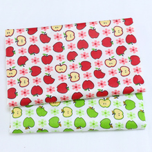 Twill Cotton Fabric for Sewing Craft DIY Quilting Patchwork Tissue Kids Bedding Textile Tilda Doll Cloth Fabric Apple Printed