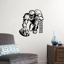 Rugby Player Wall Stickers Sport Wall Decors Gymnasium Wall Decorative Decors(China)