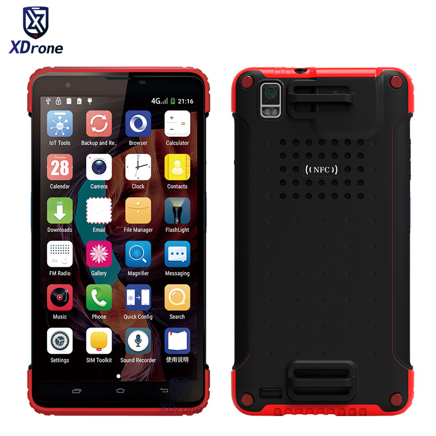 "Original C7S Rugged Tablet PC Phone Shockproof Android 5.1 1D 2D Barcode Scanner GPS 7"" PDA Handheld data terminal UHF RFID NFC(China)"