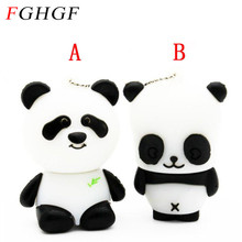 FGHGF Panda USB Flash Drives (White) 100% Full Capacity 4GB 8GB 16GB 32GB cute animal Two style wholesale price HOT(China)