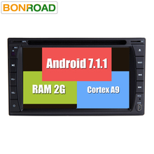 Newest Android 7.1.1 2Din Universal Car DVD Player Radio GPS Navigation In Dash Car PC Stereo Video BT Audio Headunit Quad Core