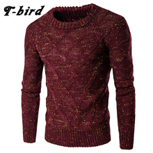 T-bird 2017 New Fashion Brand Men Sweaters Pullovers Knitting Thick Warm Designer Men's Slim Fit Casual Knitted Man Knitwear XXL