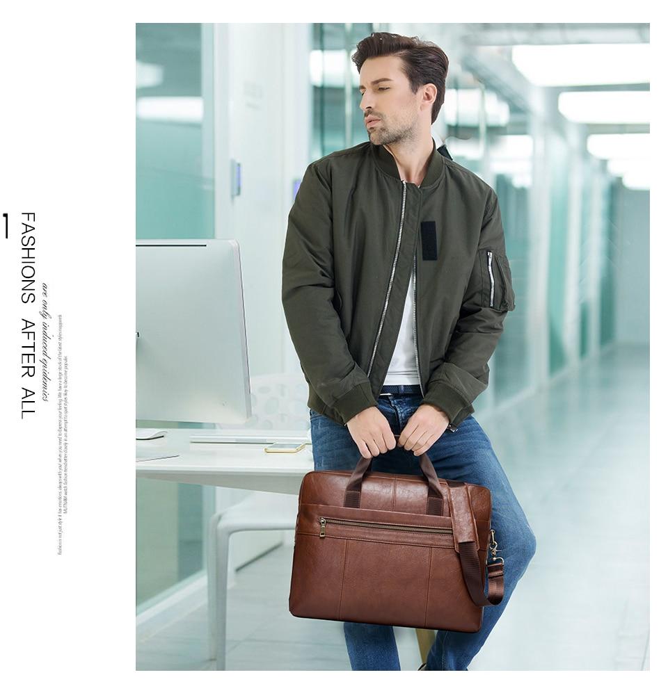 """حقيبة لابتوب من الجلد الطبيعي لرجال الاعمال 15.6"""" 1"""