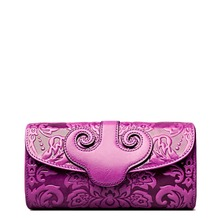 11.11 Super Deal Women Embossed Floral Clutches Single Shoulder Strap Female Bags