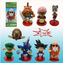 8pcs/set Dragon Ball Z Goku Action Figure PVC Collection figures toys for christmas gift brinquedos with retail box
