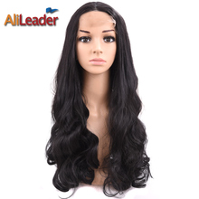 Alileader Wigs For Black Women Swiss Lace Front Wig Body Wave Style Cost Price For Clearance Stock Synthetic Long Short Wigs(China)