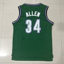 Wholesale Retro Men's #34 Ray Allen Basketball Jersey Throwback Allen jerseys Adult Embroidery Logos Fast free shipping