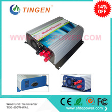 3 phase AC input 22-60v pure sine wave windmill grid tie micro inverter ac to ac 500w ac output(China)