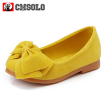 CMSOLO Shoes For Girls Red Kids Shoes Casual Plain Solid Summer Autumn Children's Infants Female Slip-on Yellow Shoe For Girls(China)
