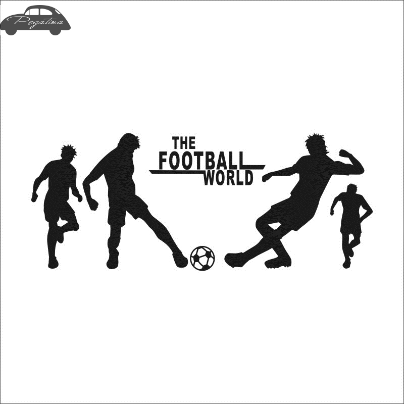 Football Player Soccer Wall Stickers Sports Foootball Wall Decal Home Decoration