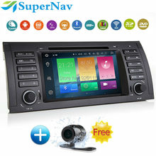1 DIN 8 Core Android 6.0 Car GPS Radio for BMW E39 E53 X5 M5 with 2G CPU 32G ROM Can bus 4G Wifi BT DVD GPS Free map camera