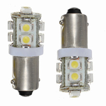 2X T11 BA9S T4W 10-SMD Xenon White Hi-Power LED Side Light Lamp Bulb Car 12V UK
