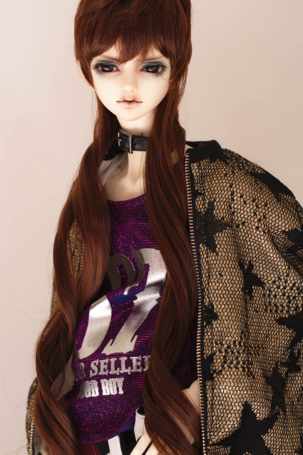 BJD Doll Red Brown Wig 8-9 1/3 Uncle SD DOD DZ LUTS  BJD Doll wig Natrual Style<br>