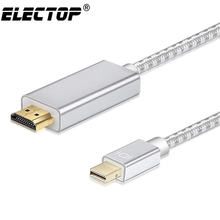 Mini Displayport к HDMI кабель 6.56ft Thunderbolt 2 HDMI конвертер для MacBook Air 13 iMac Chromebook Mini DP к HDMI адаптер(China)