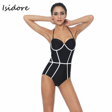 2017 Black White Adult Swim Figures Young Girl Swimwear Swimming Halter Patchwork One Piece Swimsuit Swim Suit Monokini Backless