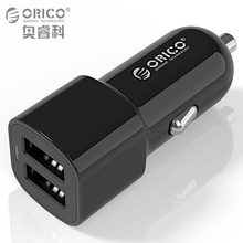Buy ORICO 3.4A Dual Port USB Car Charger Mini Universal Smart Car-Charger Smart Phone Apple iPhone 7 LG Samsung free Cable for $4.32 in AliExpress store