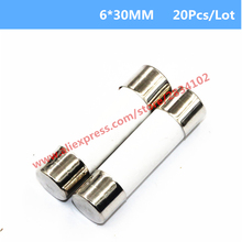 20 Pcs 6*30MM Ceramics Fuse Fast Blow 0.5A 1A 2A 3A 4A 5A-20A 6mm*30mm 250V Electrical Auto Fuse High Quality Protector
