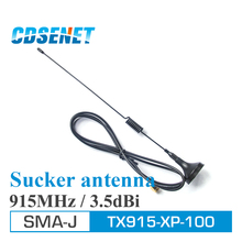 2Pcs 915MHz Wifi Anten High Gain ufh Antenna TX915-XP-100 3.5dBi SMA Male 915M Sucker Antenna For Wireless rf Module(China)
