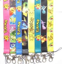 Wholesale 50pcs Mixed Pokemon Pikachu Neck Straps Lanyards Mobile Phone,ID Card,Key Condole belt Mixed