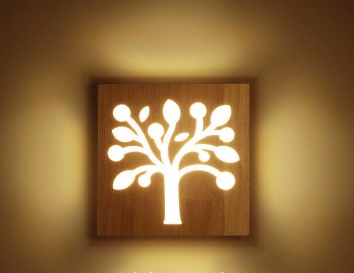 Acheter wonderland moderne en bois arbre wifi ampoule forme
