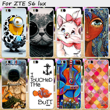 Mobile Phone Skin Case Cover For ZTE Blade S6 Lux S6 Plus Q7 Cases Hard Plastic Cool Lovely Cartoon Painted Phone Bags Housings