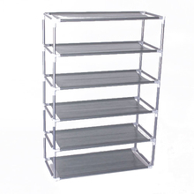 6 Layers removable door shoe storage cabinet shelf DIY shoes storage