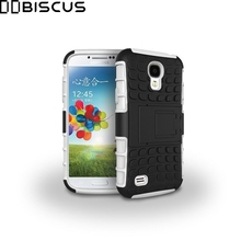 For Samsung Galaxy S4 S 4 GT i9500 i9508 i9505 Case Dual Layer Hybrid Rubber Armor Hard Plastic Shockproof Stand Phone Cover(China)