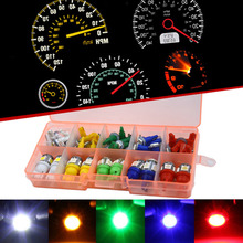 Qook Car Auto T5 T10 LED 5050 SMD Instrument Panel Dashboard Light Bulb Green Red White Blue Yellow Lamp 12V(China)