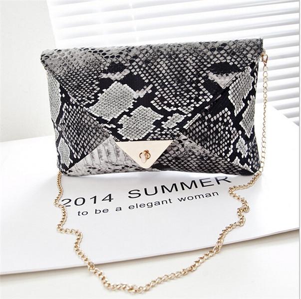 2016 Fashion Cross Body Shoulder Bag Ladies Retro snake clutch bag hand bag chain envelope bags handbags women famous brands sac<br><br>Aliexpress