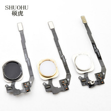 shuohu brand 10 pcs Home Button with Flex Cable for iPhone 5s Black/White/Gold Home Flex Assembly Free shipping(China)