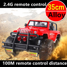 Alloy 1:12 35CM Resistance to fall Charge High Speed drift RC Toy Car  Hummer SUV Lights&Shock Absorption Xmas Kids gift