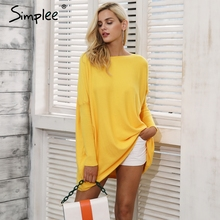 Simplee Knitting autumn winter pullovers jumper female sweater Women outerwear long sweater Casual long sleeve soft sweaters(China)