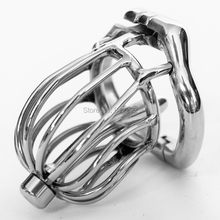 Buy Stainless Steel Stealth Lock Male Chastity Device Cock Cage Fetish Virginity Penis Lock Cock Ring Chastity Belt Sex Toys
