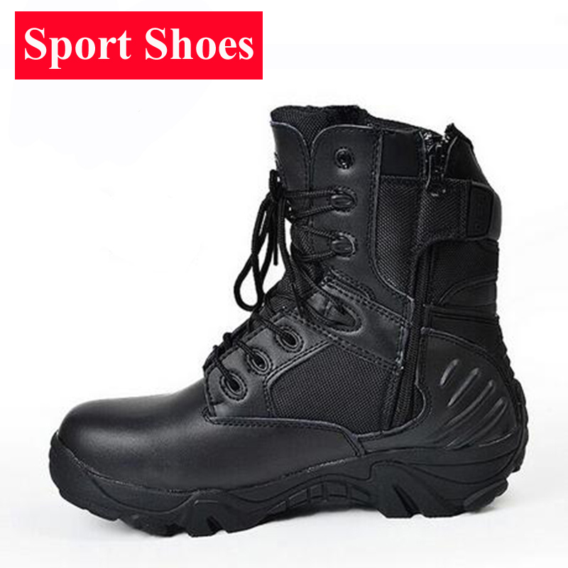 Outdoor Breathable Hiking Shoes Military Tactical Combat Men Climbing Trekking Shoes Leather Sneakers Camping Waterproof Boots<br>