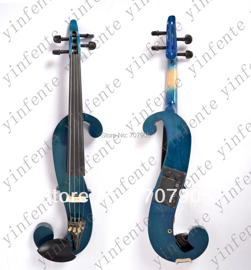 Violin New F Hole Shape 4/4 Electric Violin solid wood fine sound 1 Pcs<br><br>Aliexpress