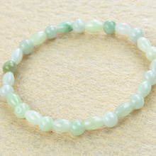 Genuine Imitation emerald bracelet beads 8x6mm natural Burma stone bracelets for women new arrival bijoux gift 0669