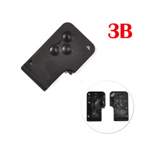 1piece 3 Buttons Smart Card Key Shell For Renault Megane Card Without Small Key,(China)