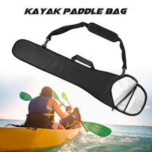 1PCS Paddle Bag Long Kayak Boat Canoe Paddle Storage Bag Holder Pouch Cover Black/Blue