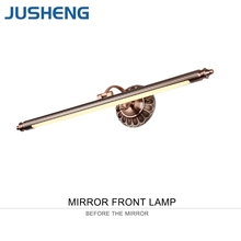 JUSHENG Antique Bronze LED Wall Lamps in Bathroom with Swing Arm 50- 90CM Long over Mirrors as Sconce Wall Lights 110V / 220V AC