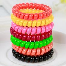 Telephone Line Elasticity Rubber Crystal Hair Accessory Women Headwear Elastic Hair Band for Girl Jewelry Springs Hair 1Pcs