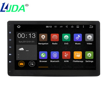 "LJDA 10.1"" Universal 1024*600 Car Stereo GPS Navigation System Android 5.1.1 Quad Core 2 Din HeadUnit multimedia Touch Screen(China)"
