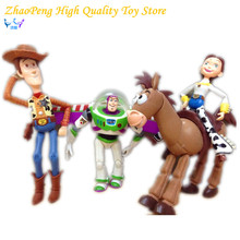 4pcs/set Anime Toy Story 3 Buzz Lightyear Woody Jessie PVC Action Figure Collectible Model Toy Kids Gifts 14.5-18cm FB251(China)