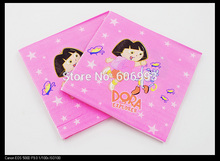 [RainLoong] Dora The Explorer Paper Napkin Festive & Party Supplies  Tissue Napkin Supply Party  33cm*33cm 20pcs/pack/lot