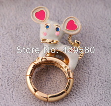 Antique Fashion  Enamel Cow Ring