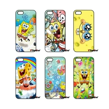 Cute Minion Cartoon SpongeBob Cell Phone Case Cover For iPhone 4 4S 5 5C SE 6 6S 7 Plus Samsung Galaxy Grand Core Prime Alpha(China)