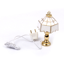 New Unisex Toy 1:12 Dollhouse Miniature Table Lamp Light Doll House Decoration Classic Pretend Play Furniture Toys for Children(China)