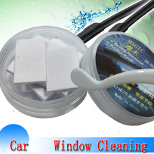 20pcs/pack Car Windshield Cleaning Glass Cleaner Auto Solid Wiper Fine Seminoma Wiper Car Auto Window Cleaning Car Accessories(China)